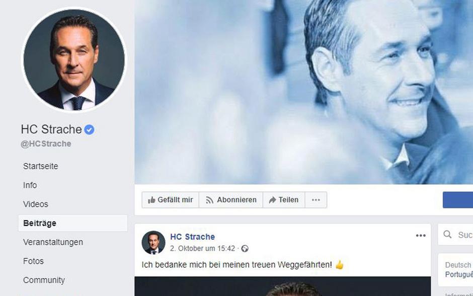 Straches Facebook-Seite hat für die FPÖ enormen Wert.