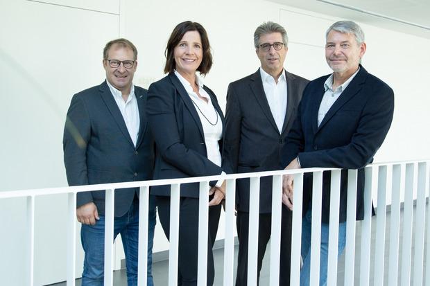 Die Gründer von Atract (v.l.): Alexander Prachensky (comdesign.net), Karin Lindner (Institut f. Unternehmensentwicklung), Josef Kirchmair (hgcgroup), Alfred Gunsch (siplan.at).