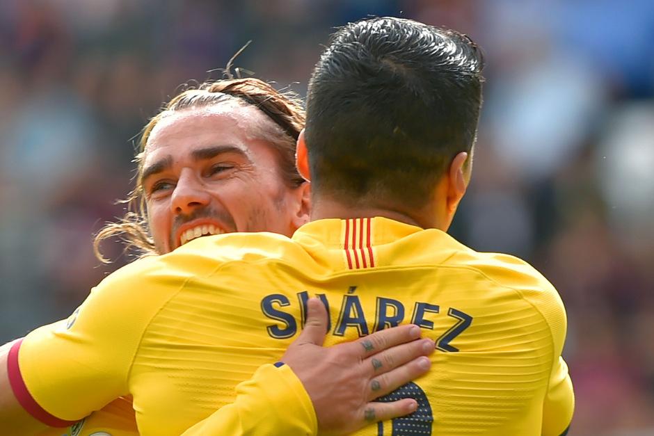 Antoine Griezmann (l.) und Luis Suarez dürfen über einen Barca-Sieg jubeln.