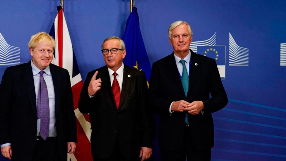 Der britische Premier Boris Johnson bei einem Treffen mit EU-Kommissionspräsident Jean-Claude Juncker und EU-Chefverhandler Michel Barnier vergangenen Donnerstag.