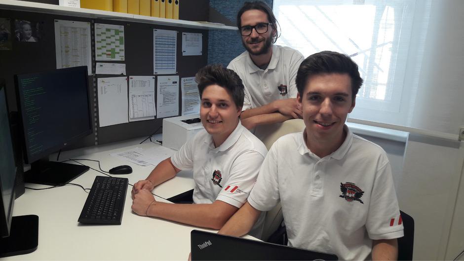 Benjamin Floriani, Manuel Wesenjak und Philip Graf (v.l.) wussten bei der Austria Cyber Security Challenge in Fürstenfeld zu überzeugen.