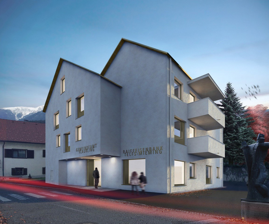 So wird das neue Mehrzweckgebäude aussehen. Die Arbeiten direkt an der Salzstraße machen eine Ampelregelung notwendig.