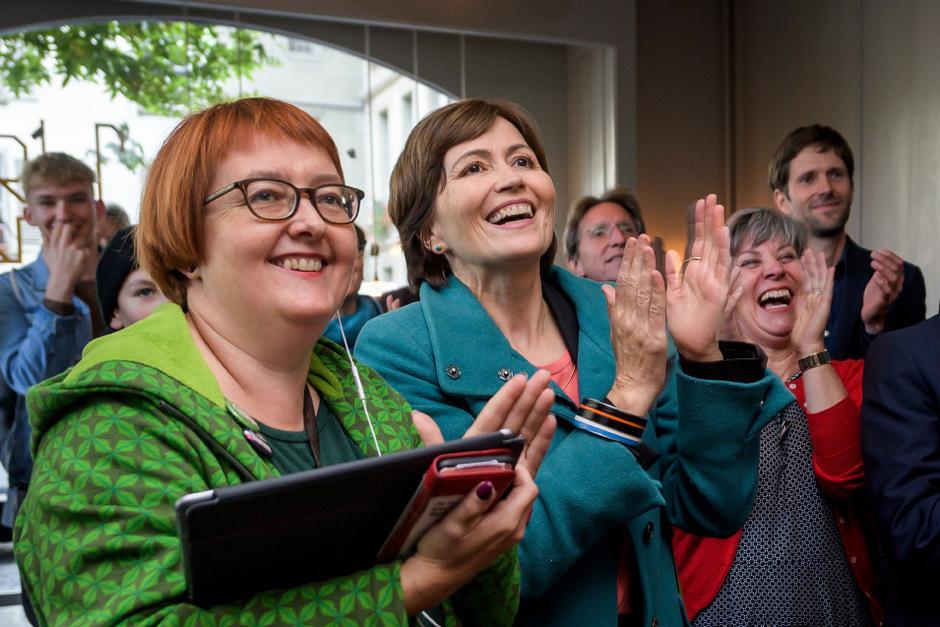 Die Grünen rund um Regula Rytz (Mitte) konnten ihren Stimmanteil auf noch nie da gewesene 13,2 Prozent fast verdoppeln.