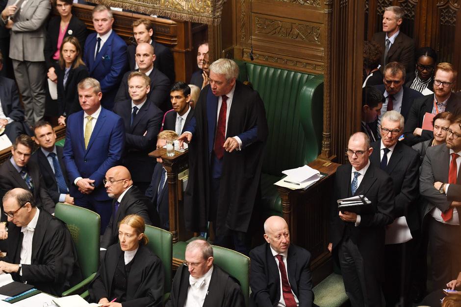 Parlamentspräsident John Bercow widersprach dem Wunsch der britischen Regierung.