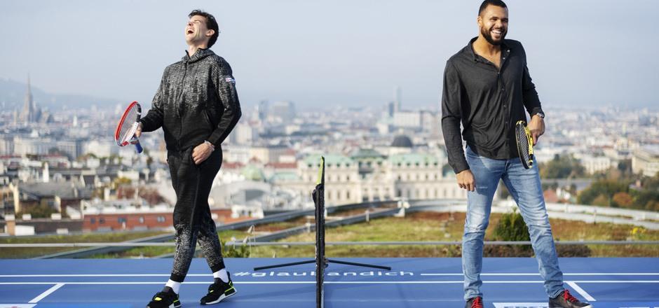Dominic Thiem und Jo-Wilfried Tsonga treffen sich heute auf dem Center Court wieder.