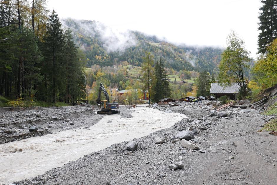 Von den Flüssen in Osttirol war die Drau am stärksten vom Unwetter betroffen, im Bild die Galitzenklamm in Amlach.