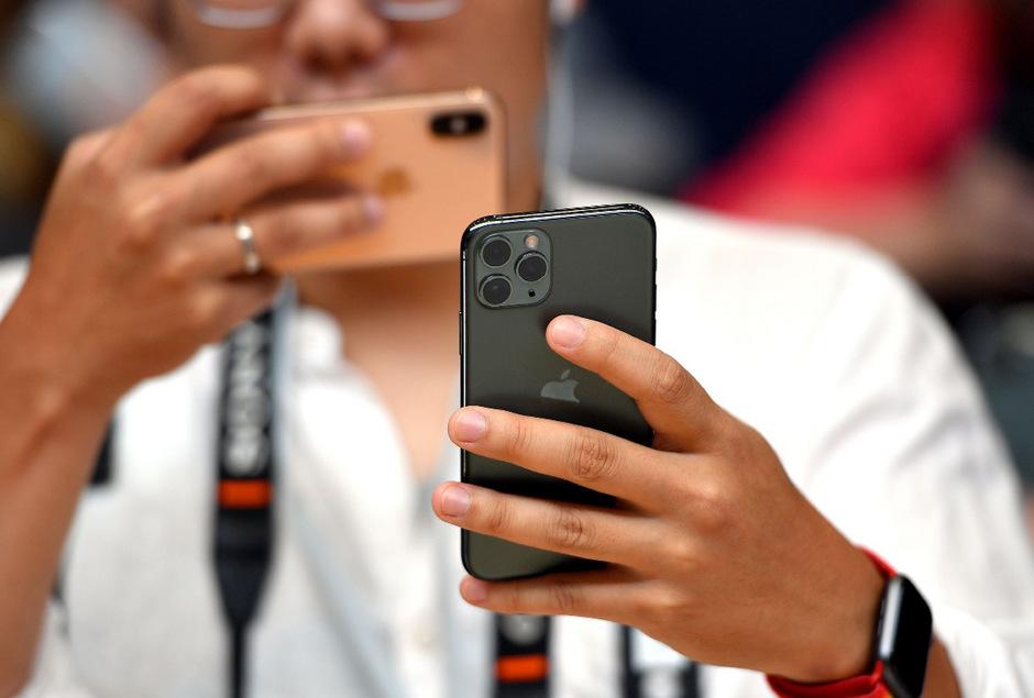 Das neue iPhone 11 Pro hat drei Kameraobjektive.
