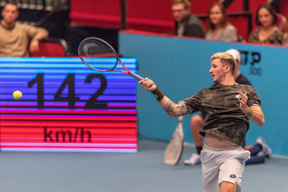 Novaks zweites Achtelfinale in der Stadthalle nach 2017 schien zum Greifen nahe.