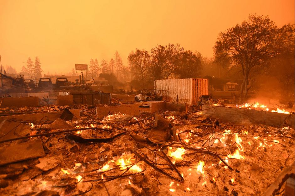 Verheerende Waldbrände in Kalifornien hatten im Vorjahr Dutzende Menschen das Leben gekostet.