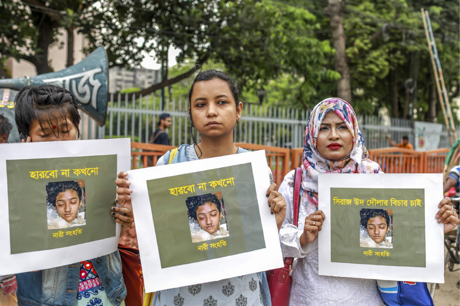 Nach dem Mord an der 19-jährigen Nusrat Jahan Rafi waren in Bangladesch Proteste ausgebrochen.