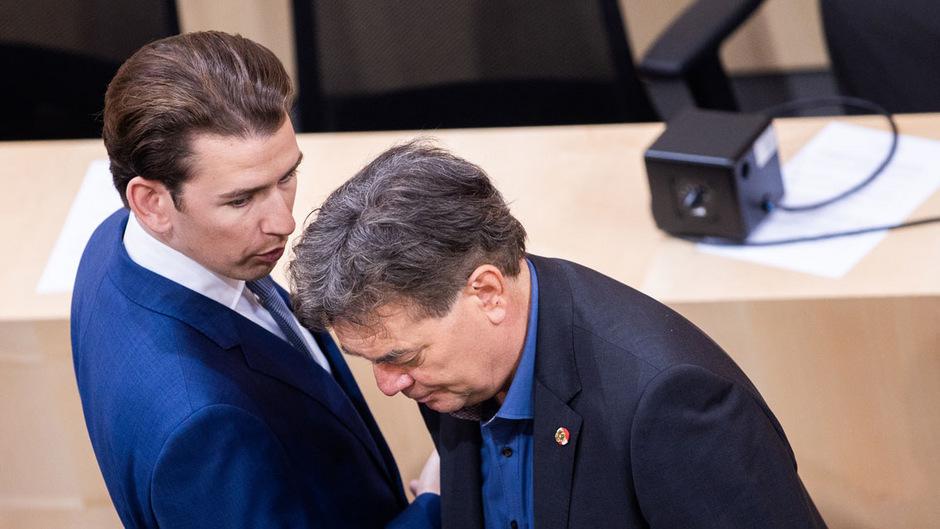 Könnten in einer Regierung zueinanderfinden: Sebastian Kurz (ÖVP, l.) und Werner Kogler (Grüne).
