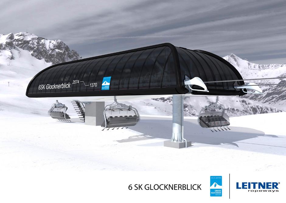 """In Kals geht die neue Sechser-Sesselbahn """"Glocknerblick"""" zum Saisonstart in Betrieb. Sie führt vom Kalser Ortsteil Großdorf auf das Ganotzeck."""