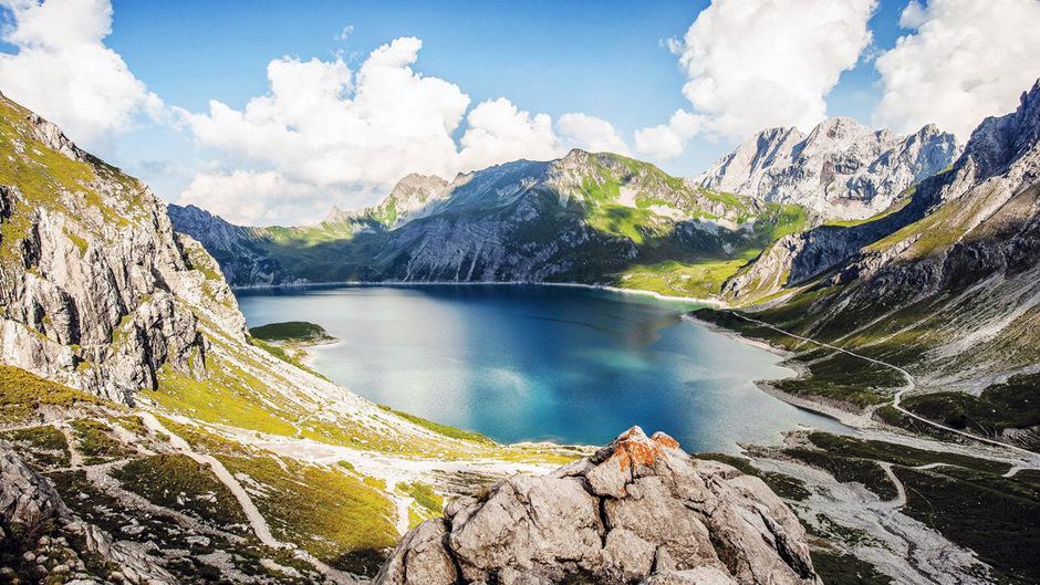 """Der Lünersee ist der """"schönste Platz"""" Österreichs."""