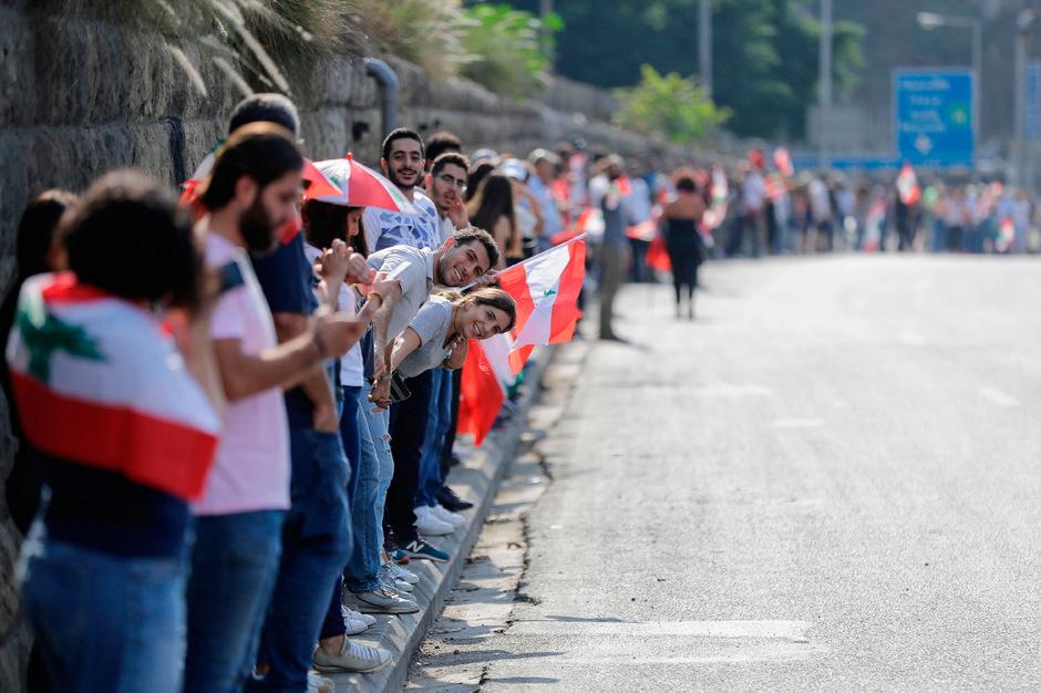 Über eine Strecke von 170 Kilometer erstreckte sich die Menschenkette.
