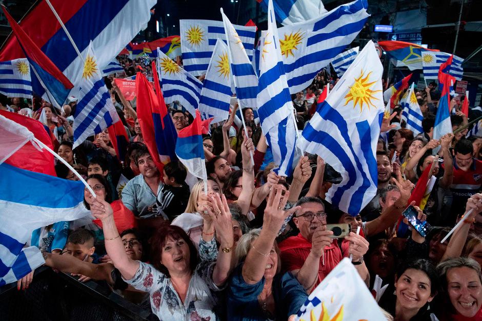 Unterstützer von Präsidentschaftskandidat Daniel Martinez.
