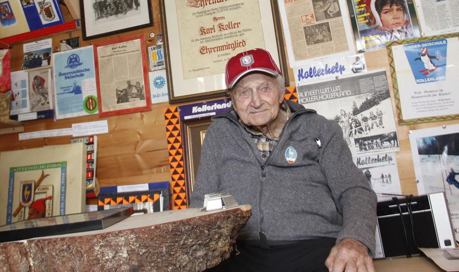 Karl Koller anlässlich des Interviews zu seinem 100. Geburtstag.