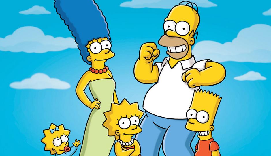 Die Zeichentrickfiguren der Simpsons.