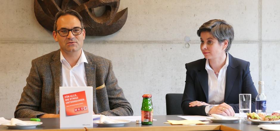 Christoph Walser, Präsident der Wirtschaftskammer Tirol, und Michaela Hysek-Unterweger, seit wenigen Tagen Obfrau der Wirtschaftskammer-Bezirksstelle Lienz, wollen die Aufwärtsentwicklung Osttirols absichern.