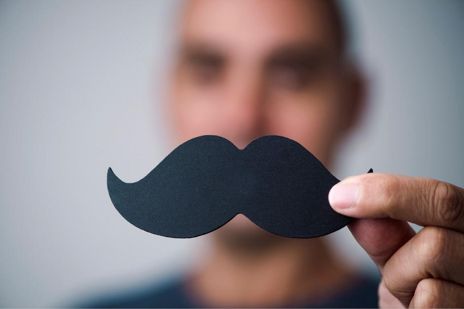 Movember. Der Moustache ist das Symbol für Männergesundheit.