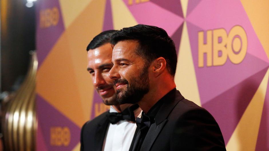 Ricky Martin mit seinem Ehemann Iwan Yosef bei der Verleihung der Golden Globes.