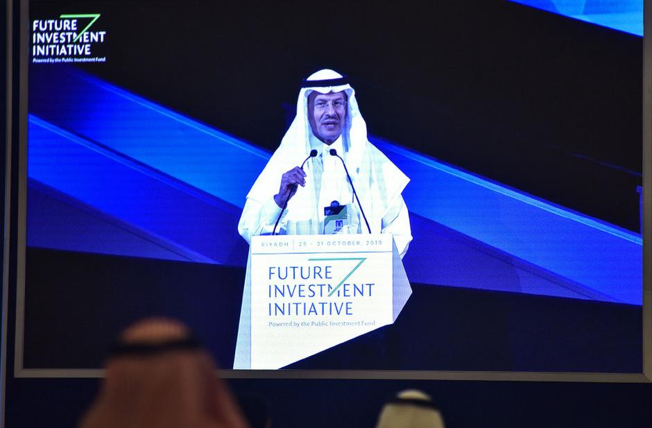 Energieminister Abdulasis bin Salman bestätigte auf der Investorenkonferenz in Riad den Börsengang von Aramco.