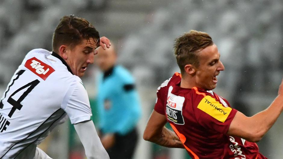 Lukas Hupfauf (Wacker) und Marcel Ritzmaier (WAC).