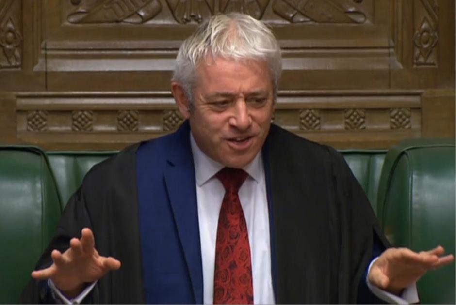 Der Sprecher des britischen Parlaments: John Bercow.