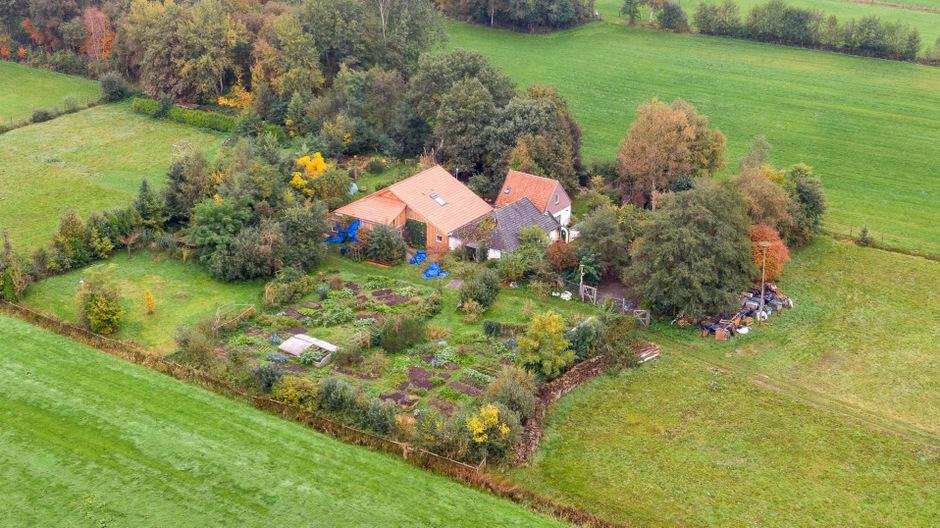 Das abgeschiedene Bauernhaus, in dem die Familie lebte.