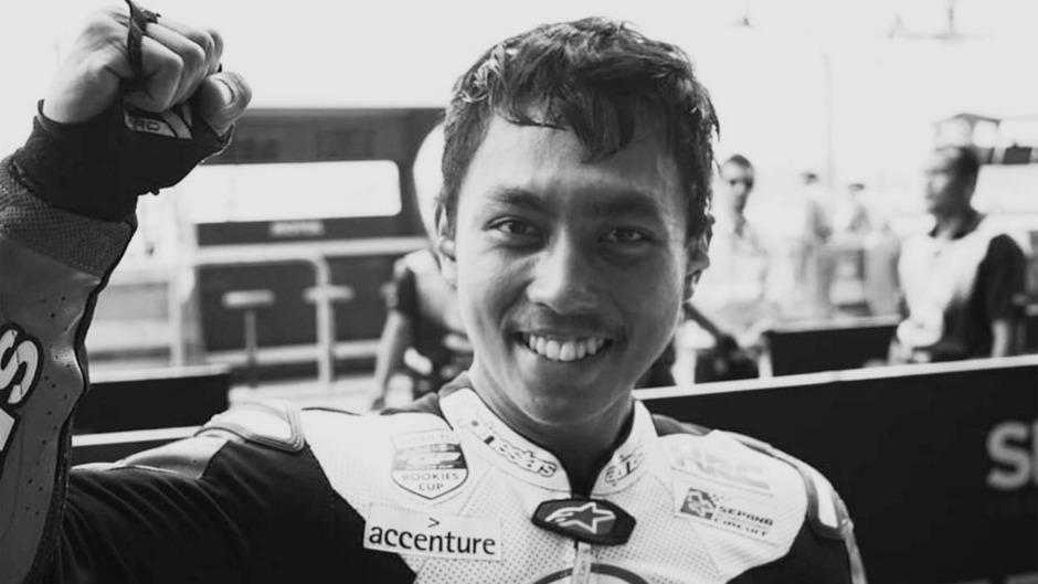 Der indonesische Motorrad-Nachwuchspilot Afridza Munandar.