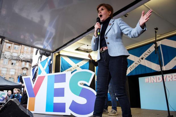 Erstmals seit fünf Jahren trat Regierungschefin Nicola Sturgeon bei einer solchen Kundgebung auf.