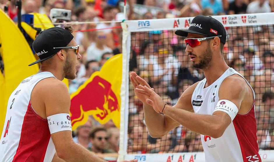 Moritz Pristauz und Martin Ermacora feierten die erste Silbermedaille auf der World Tour.