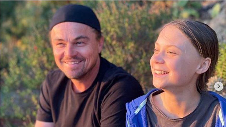 """""""Es war eine Ehre, Zeit mit Greta zu verbringen"""", schrieb Leonardo DiCaprio auf Instagram."""