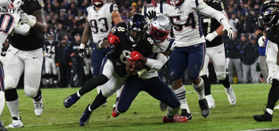Ravens-Quarterback Lamar Jackson überzeugte mit drei Touchdowns.