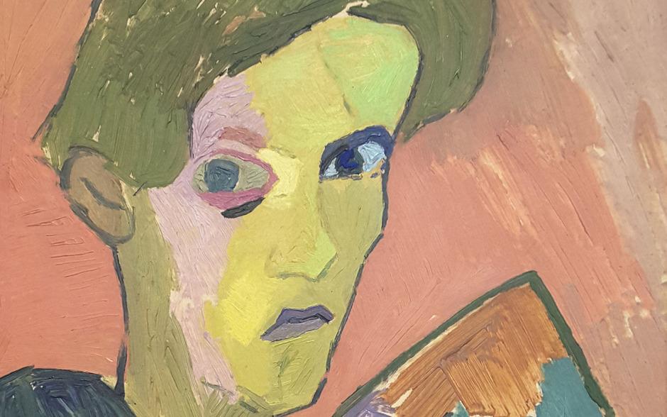 In Öl gemaltes Selbstbildnis von Kurt Absolon (Ausschnitt).