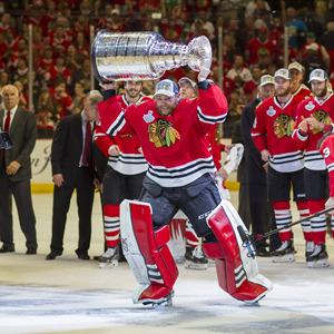 2015 jubelte Darling mit Chicago über den Stanley-Cup-Triumph.