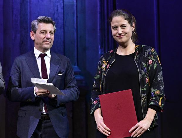 Angela Lehner wurde mit dem Debütpreis ausgezeichnet.