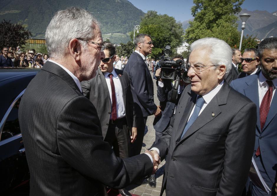 Bundespräsident Alexander Van der Bellen und Italiens Staatspräsident Sergio Mattarella.