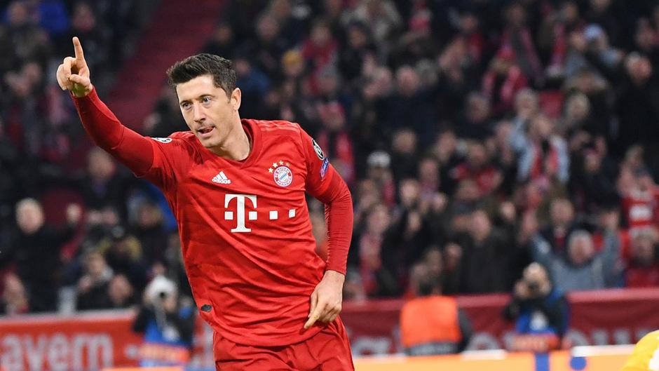 Lewandowski erzielte den Führungstreffer für die Bayern gegen Olympiakos.