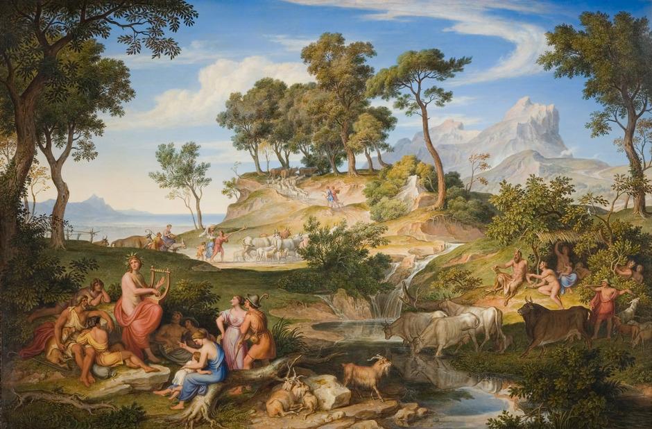 """Wird in der Ausstellung """"Goethes italienische Reise"""" zu sehen sein: Joseph Anton Kochs """"Apollo unter den Hirten"""" von 1837."""