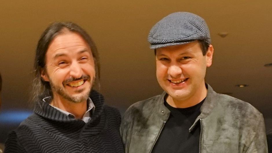 Wolfgang Nöckler (l.) und Martin Plattner (r.) bekamen die Literaturstipendien überreicht.