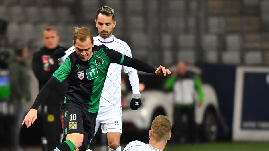 Zu den Wacker-Stützen beim 2:2 gegen Klagenfurt zählte einmal mehr Alex Gründler.