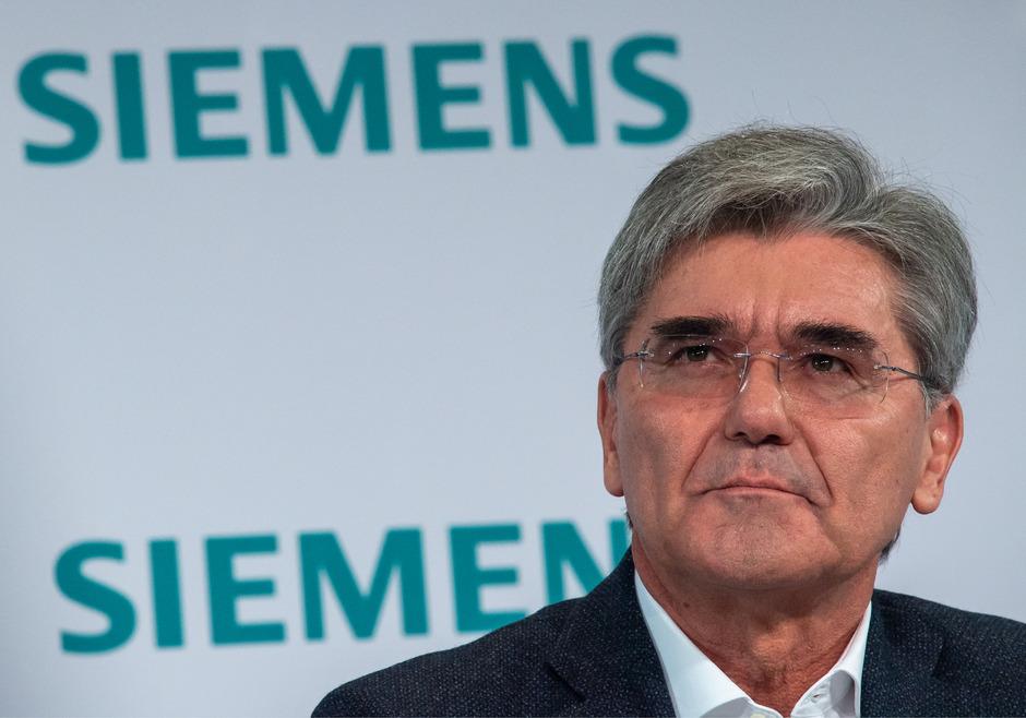 Joe Kaeser, Vorstandsvorsitzender der Siemens AG, bei der Jahrespressekonferenz zum Geschäftsjahr 2019.