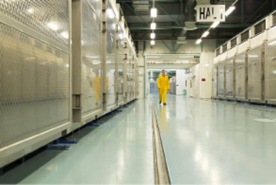 Ein Blick ins Innere der Atomanlage Fordo.
