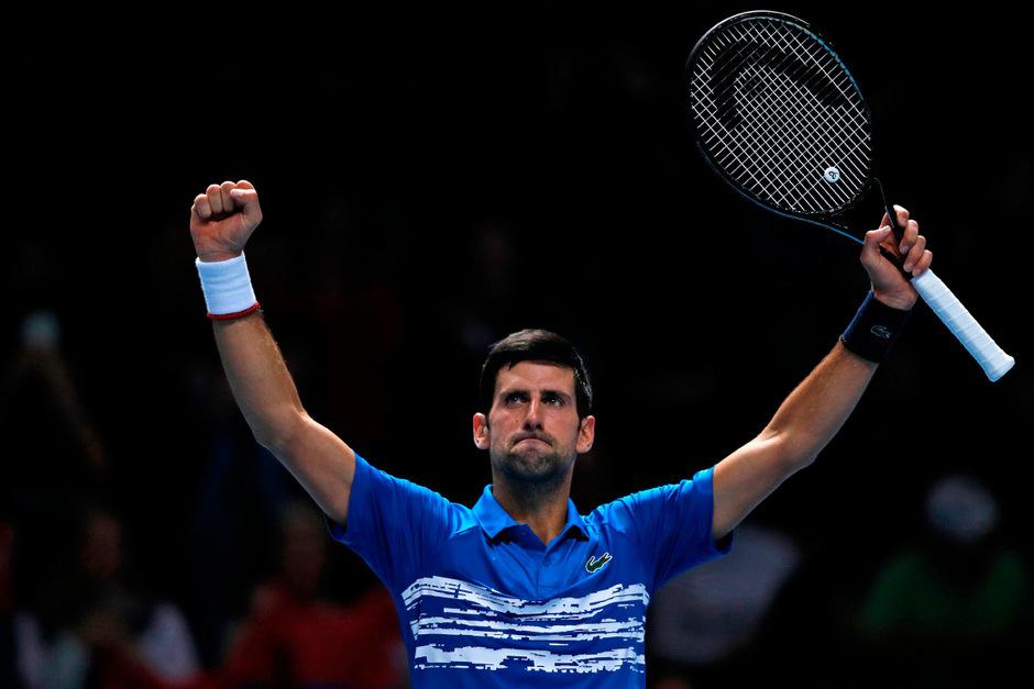 Novak Djokovic startete souverän in die ATP Finals.