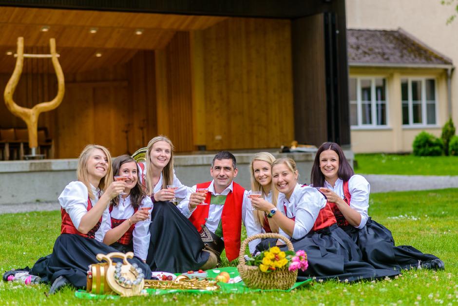 Die Promotionsbilder der Bürgermusikkapelle Reutte für das Bundesmusikfest 2020 sind längst im Kasten.