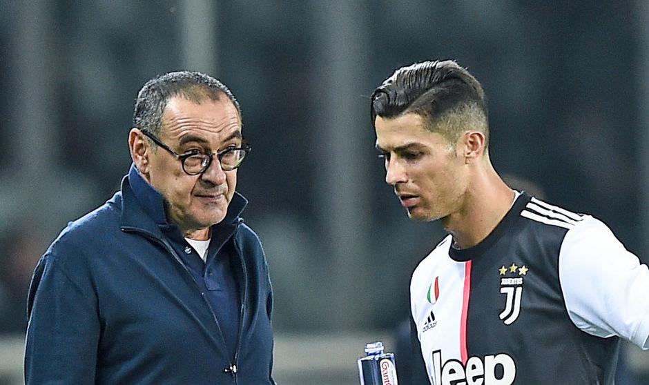 Juventus-Coach Maurizio Sarri nahm Cristiano Ronaldo erneut vorzeitig vom Feld.