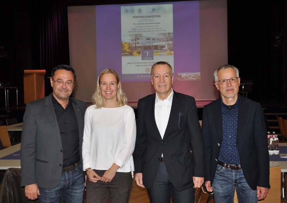 Freuten sich über die Veranstaltung: BM Hubert Almberger, Marije Moors, Primar Norbert Kaiser und sein Stv. Bruno Reitter (v.l.).