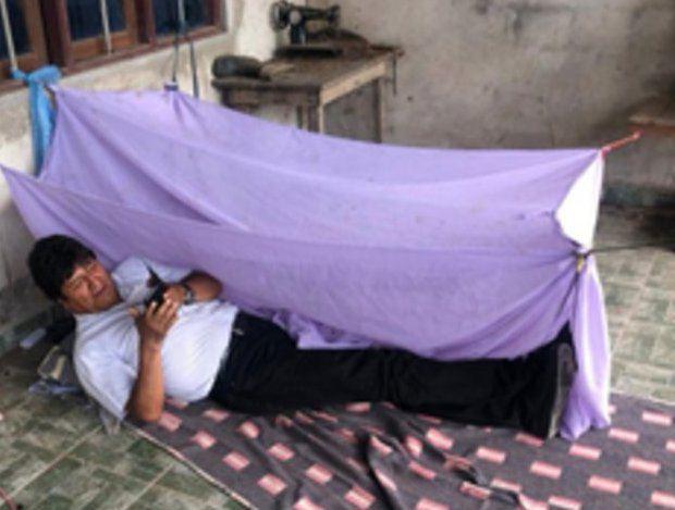 Die letzte Nacht in Bolivien verbrachte Morales in seinem Anwesen in Cochabamba.