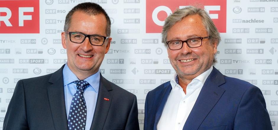 ORF-Landesdirektor Robert Unterweger (l.) steht hausintern unter Druck, Generaldirektor Alexander Wrabetz wurde darüber informiert.