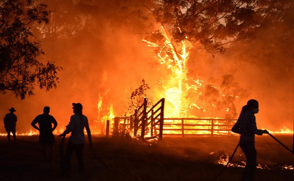 Nördlich von Sydney toben die Buschfeuer.
